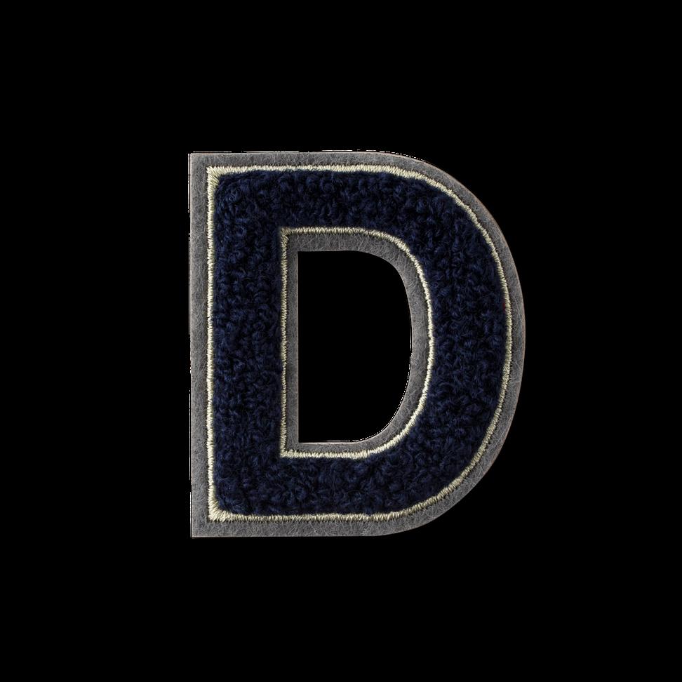 Letter D Fluffy Sticker
