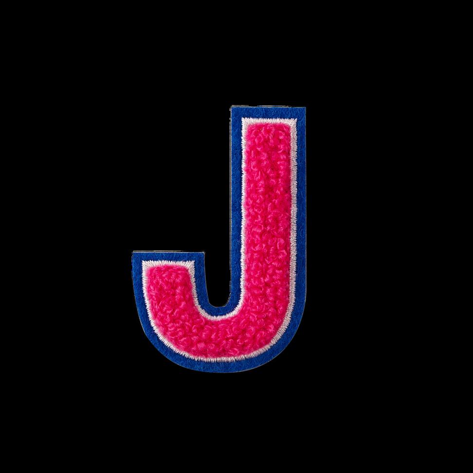 Letter J Fluffy Sticker