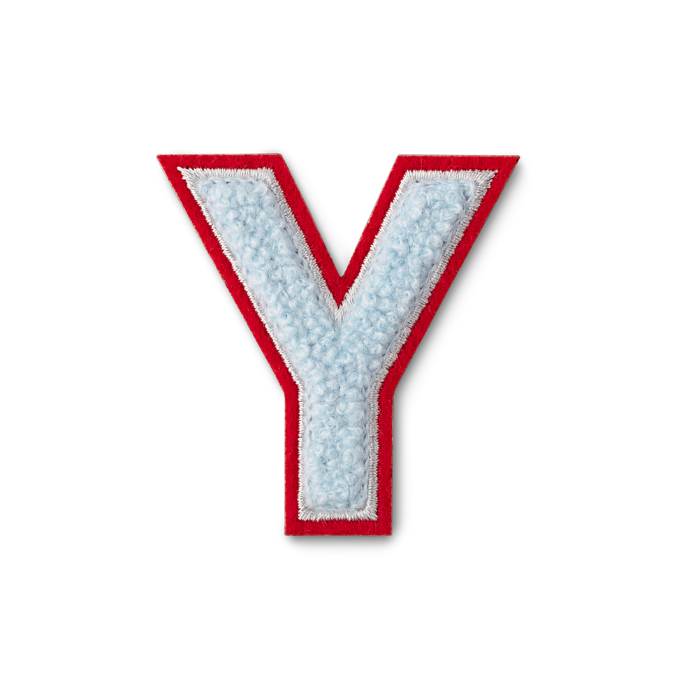 Letter Y Fluffy Sticker
