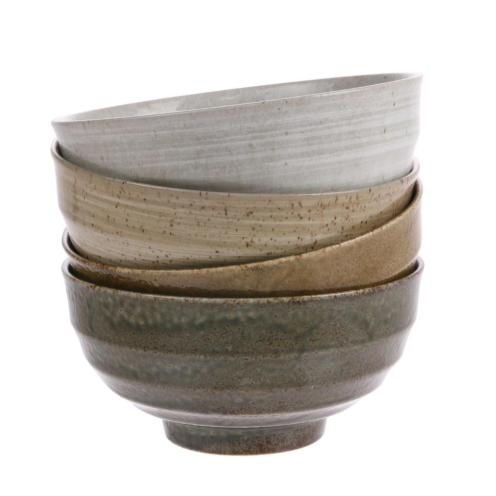 Japanese Noodle Bowls - Set of 4
