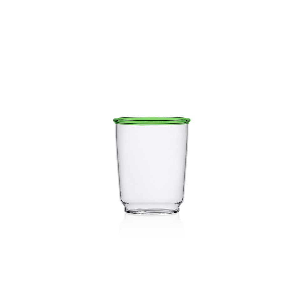 Ichendorf Water Glass Green Rim