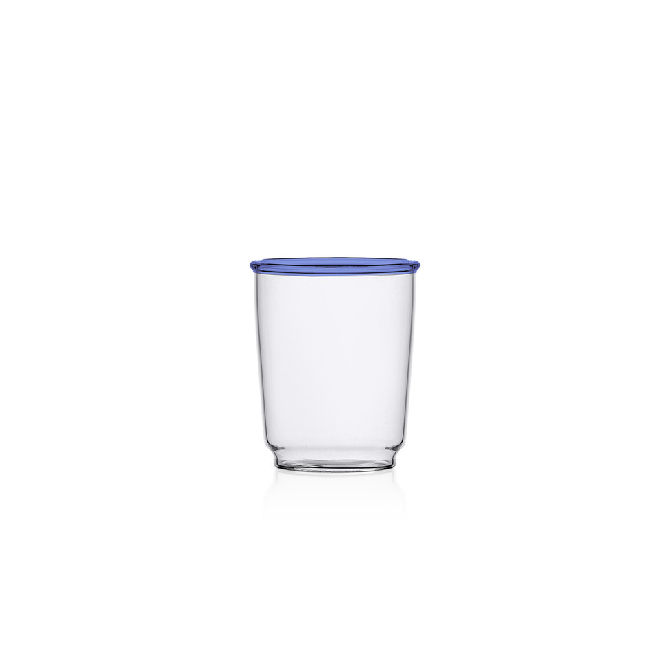 Ichendorf Water Glass Blue Rim