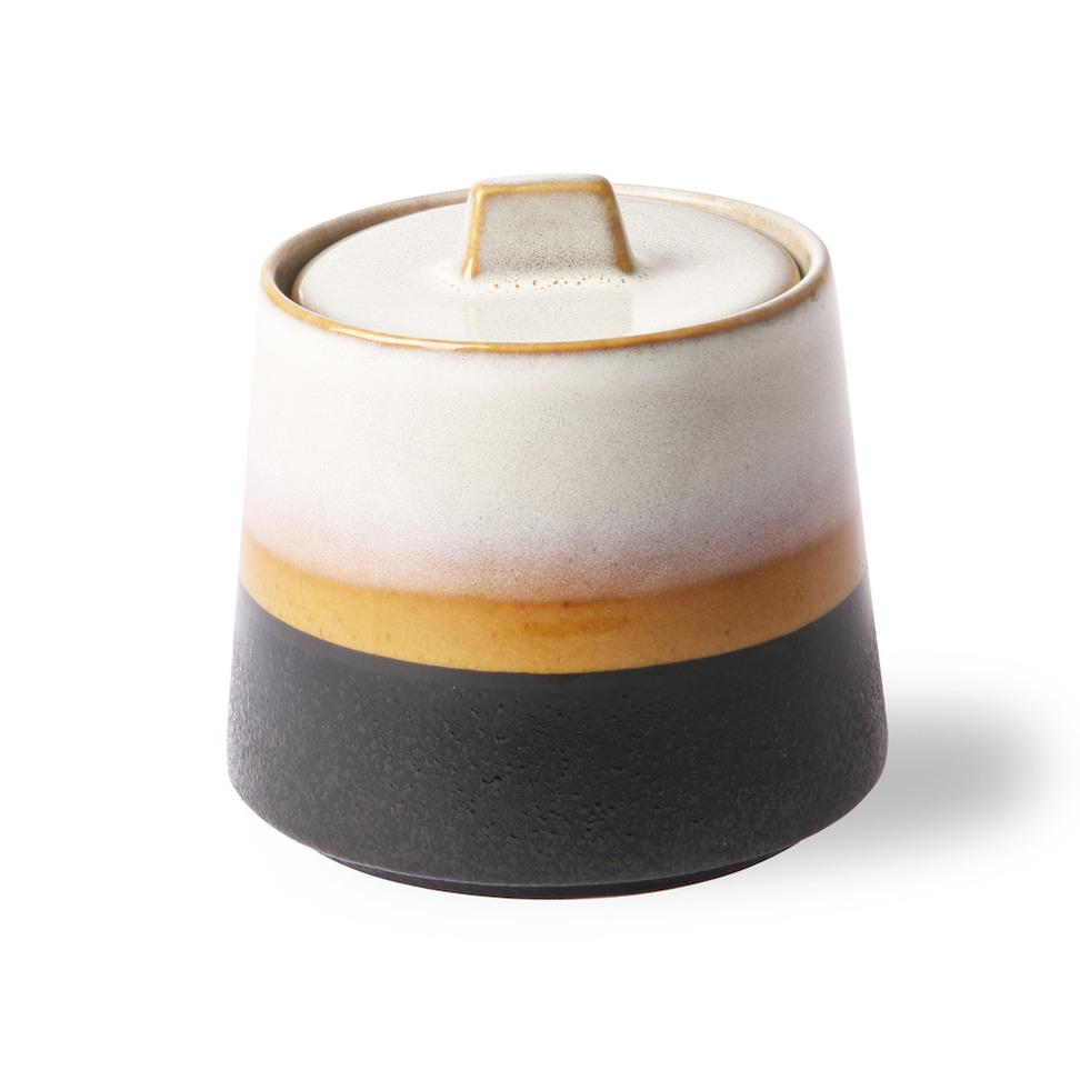 Ceramic 70s Sugar Pot