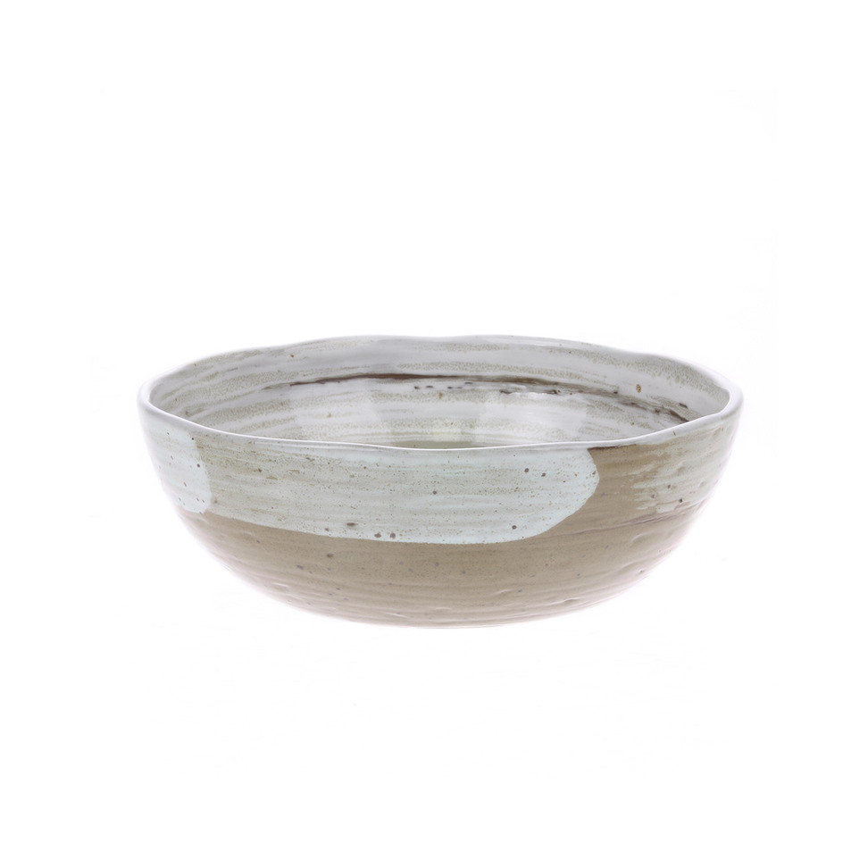 Kyoto Ceramics Brushed Noodle Bowl