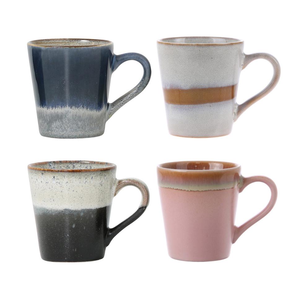 Ceramic 70s Espresso Mugs