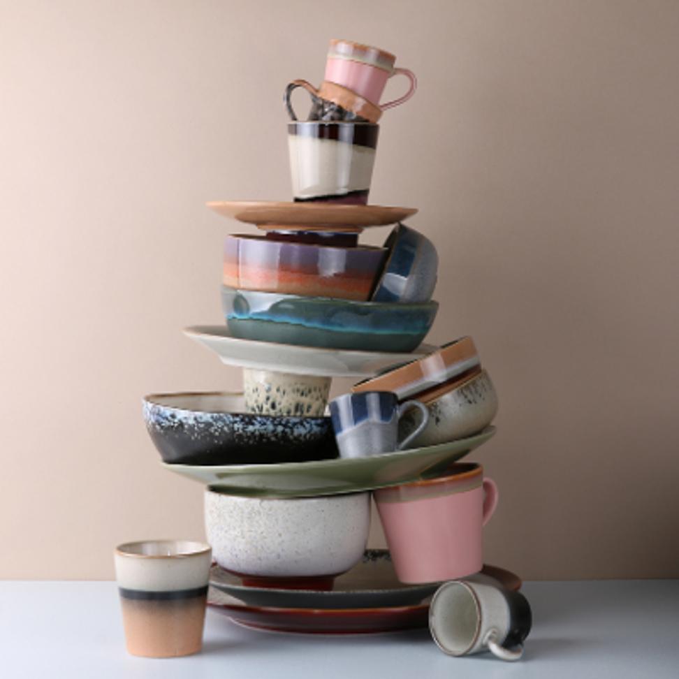 Product image Ceramic 70's Mugs - Set Of 6