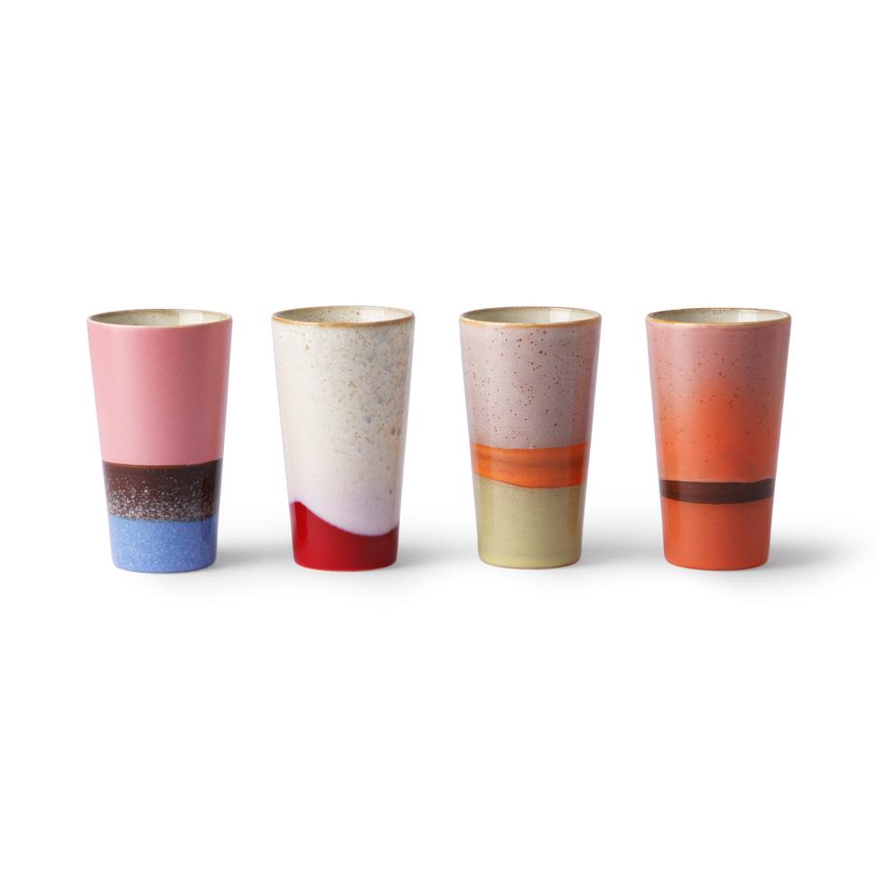 Product image Ceramic 70's Latte Mugs - Set Of 4