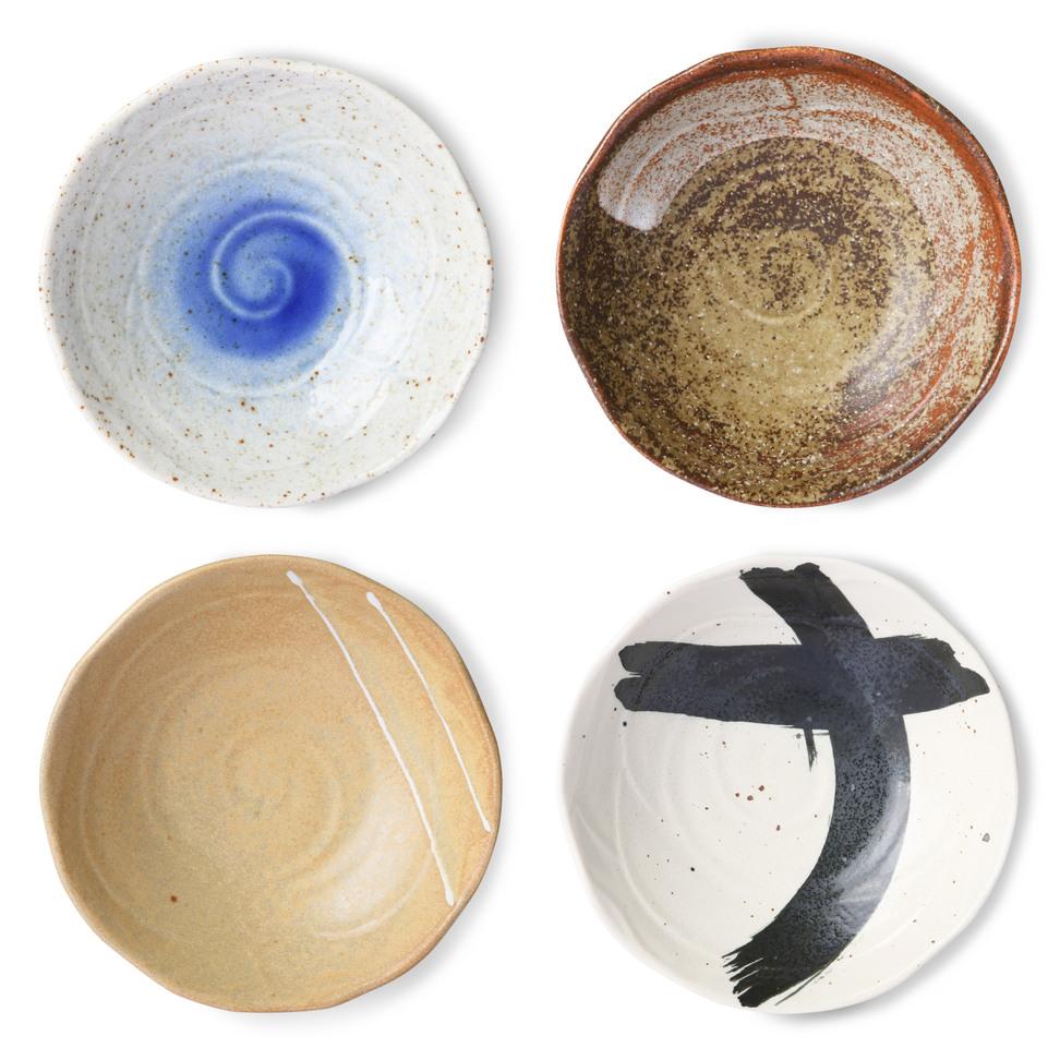 Product image Japanese Ceramic Shallow Bowl - Set Of 4 Pcs