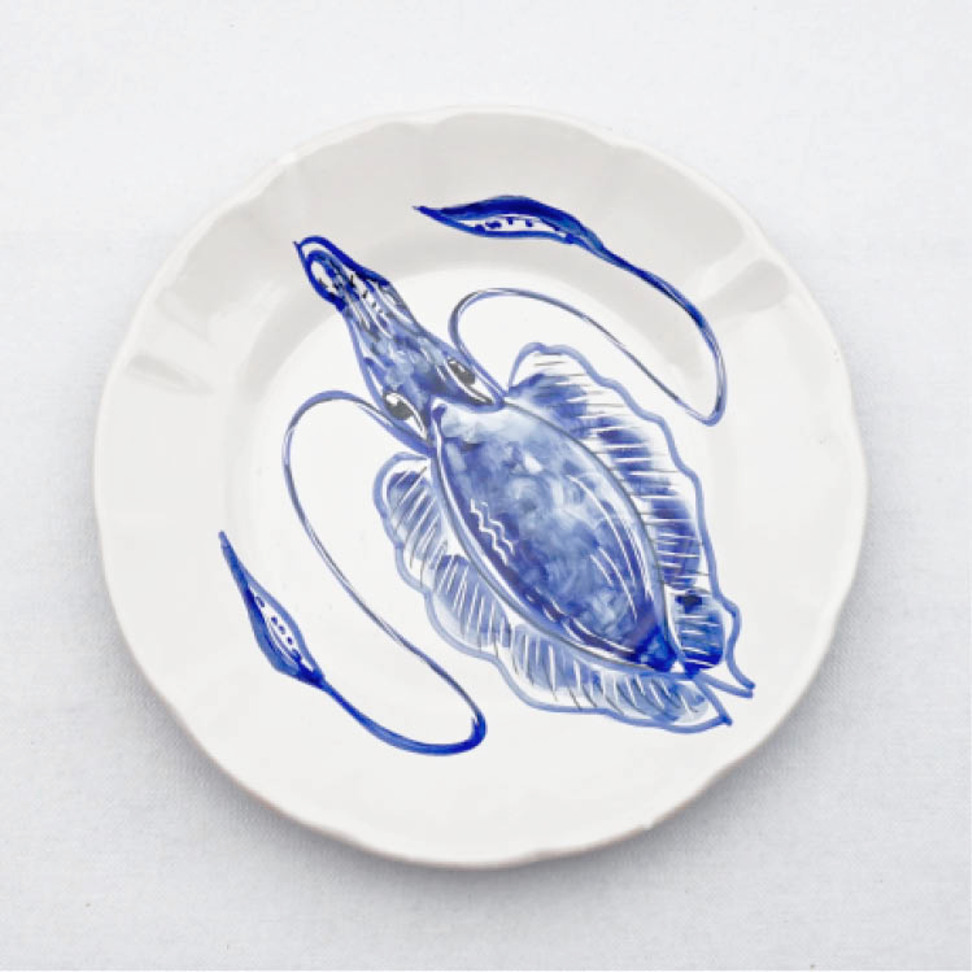 Solimene Dinner Plate Squid